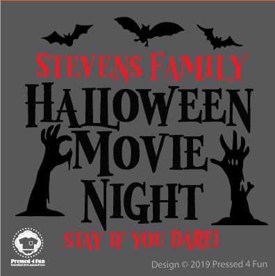 Halloween Movie Night Shirts Design
