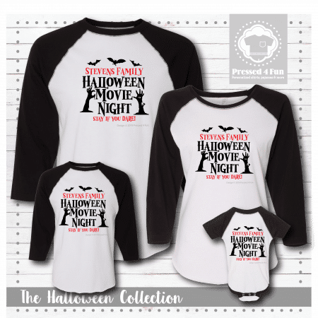 Halloween Movie Night Shirts - Raglans