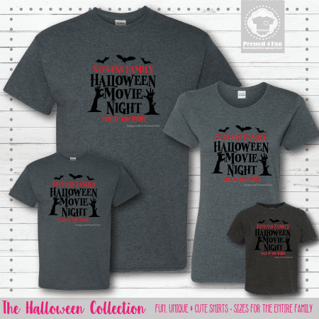Halloween Movie Night Shirts - Short Sleeve