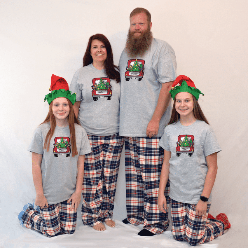 Christmas Truck Pajamas - Short Sleeve