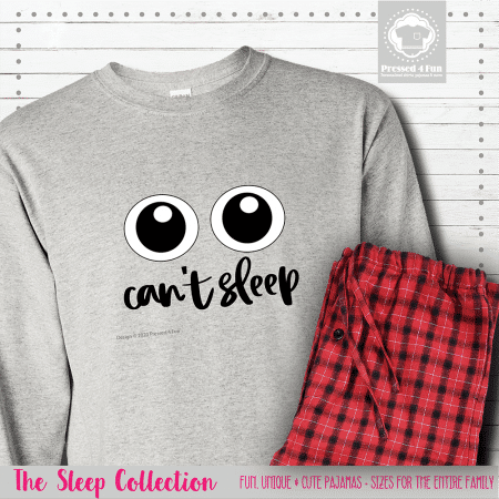 Can't Sleep Pajamas Long Sleeve Single