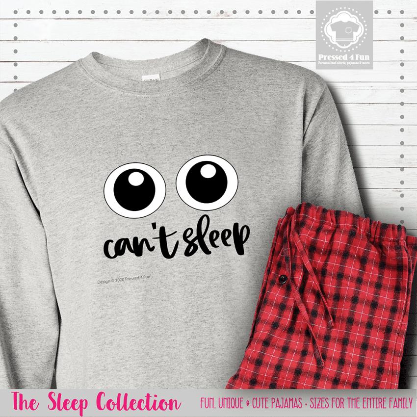 Can't Sleep Pajamas Long Sleeve Single