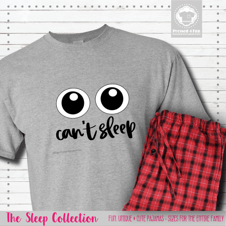 Can't Sleep Pajamas Short Sleeve Single