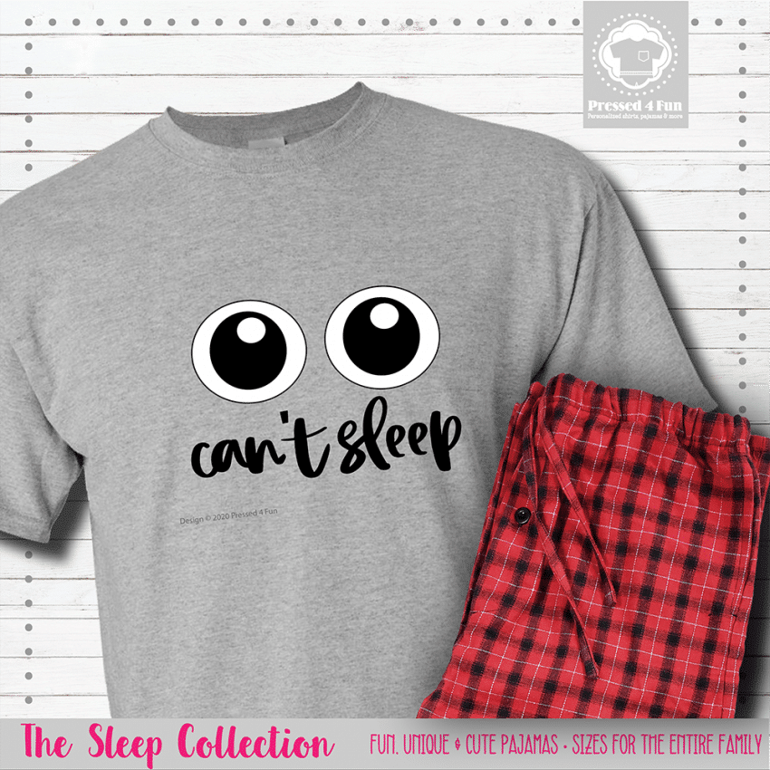 Can't Sleep Pajamas Short Sleeve Single