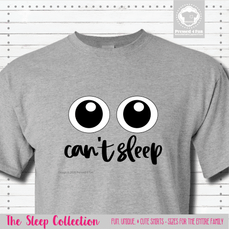 Can't Sleep Shirts Short Sleeve