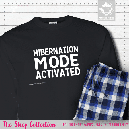Hibernation Mode Pajamas Long Sleeve Single