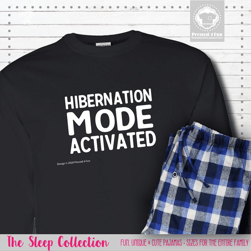 Hibernation Mode Pajamas Long Sleeve Single