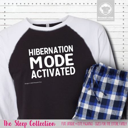 Hibernation Mode Pajamas Raglans Single
