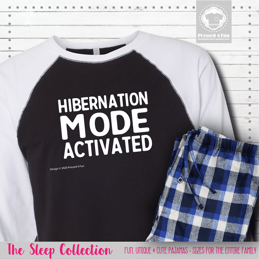 Hibernation Mode Pajamas Raglans Single