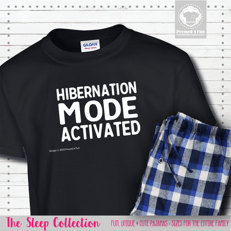 Hibernation Mode Pajamas Short Sleeve Single