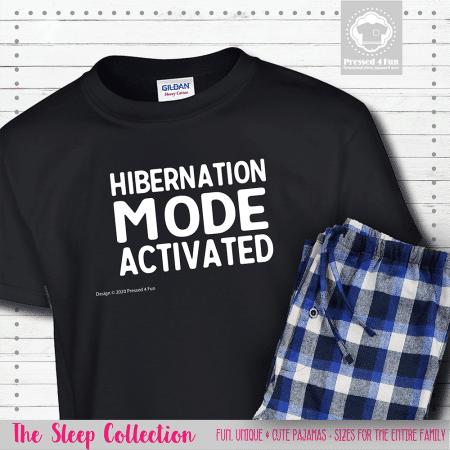 Hibernation Mode Pajamas Short Sleeve Single