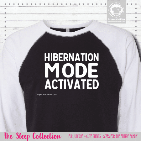 Hibernation Mode Shirts Raglans Single
