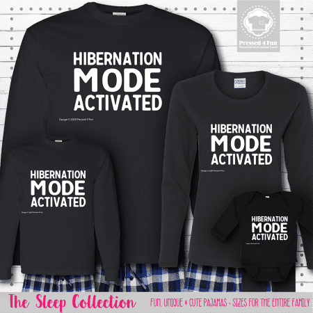 Hibernation Mode Pajamas Long Sleeve
