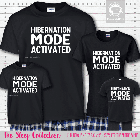 Hibernation Mode Pajamas Short Sleeve
