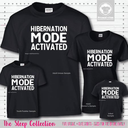 Hibernation Mode Shirts Short Sleeve