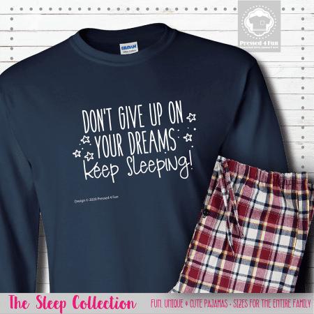 Keep Sleeping Pajamas Long Sleeve Single