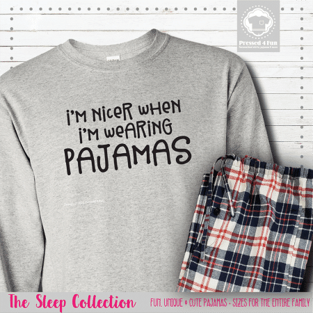 I'm Nicer In Pajamas Long Sleeve Single