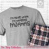 I'm Nicer In Pajamas Short Sleeve Single