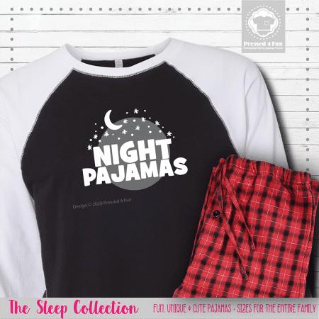 Night Pajamas Raglans Single