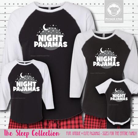 Night Pajamas Raglans