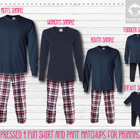 Maroon Blue Long Sleeve Pants Setup