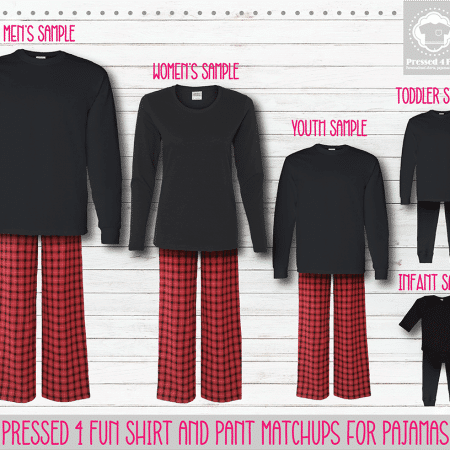 Red Black Long Sleeve Pants Setup