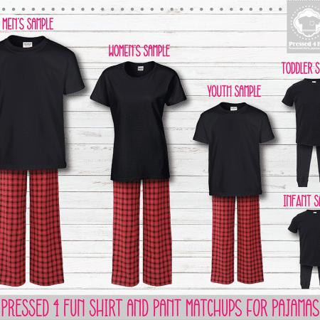 Red Black Short Sleeve Pants Setup
