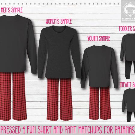 Red Black Grey Long Sleeve Pants Setup