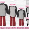 Red Black Raglans Pants Setup