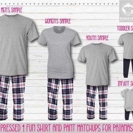 Red Navy Short Sleeve Pants Setup