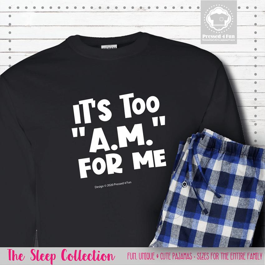 Too AM Pajamas Long Sleeve Single