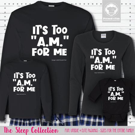 Too AM Pajamas Long Sleeve