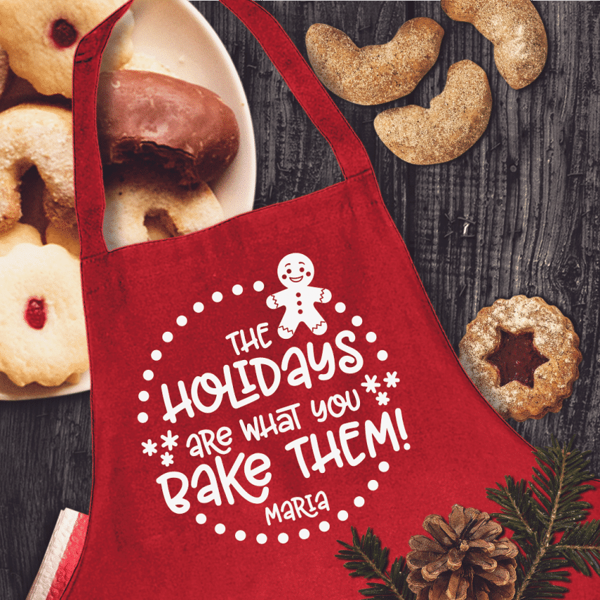 Holidays Are What You Bake of Them Aprons