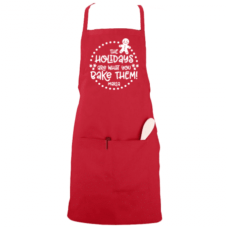 Holidays Are What You Bake of Them Aprons Single
