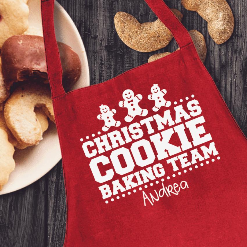 Christmas Cookie Baking Team Apron