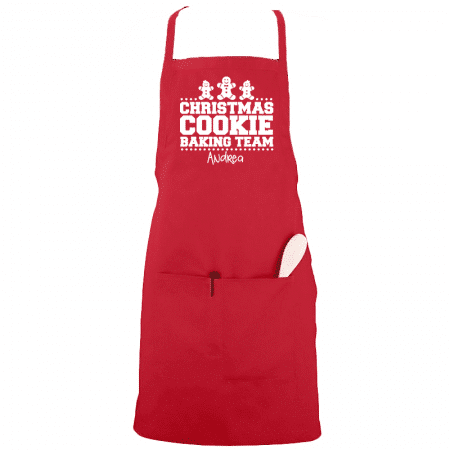 Christmas Cookie Baking Team Apron Single