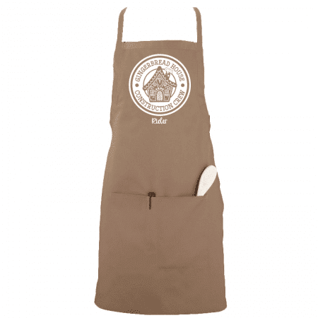 Gingerbread House Construction Aprons Single