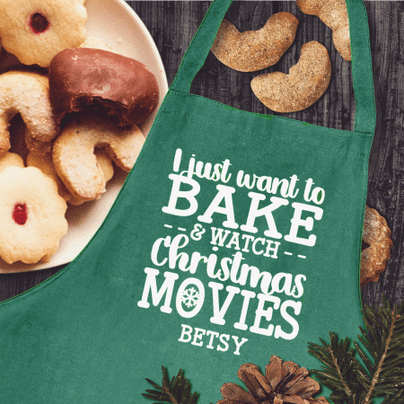 Bake and Watch Christmas Movies Apron
