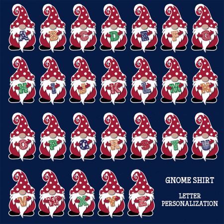 Holiday Gnome Initials