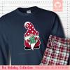 Holiday Gnome Initial Pajamas Long Sleeve Single