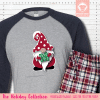 Holiday Gnome Initial Pajamas Raglans Single