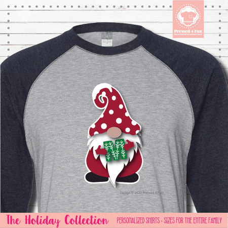 Holiday Gnome Initial Shirts Raglans Single