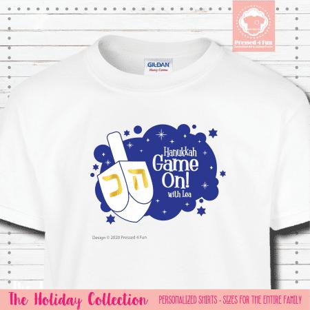 Hanukkah Game On Shirts Short Sleeve Single