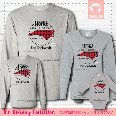 Home for the Holidays Shirts Long Sleeve