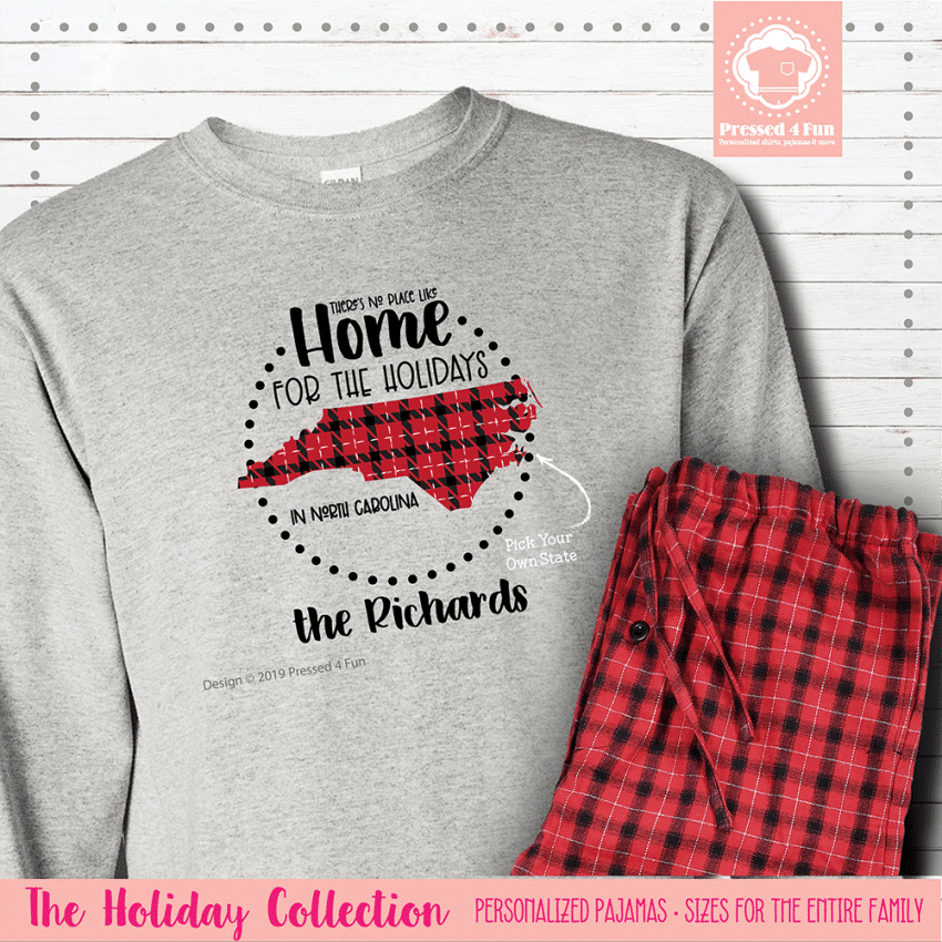 Home for the Holidays Pajamas Long Sleeve Single