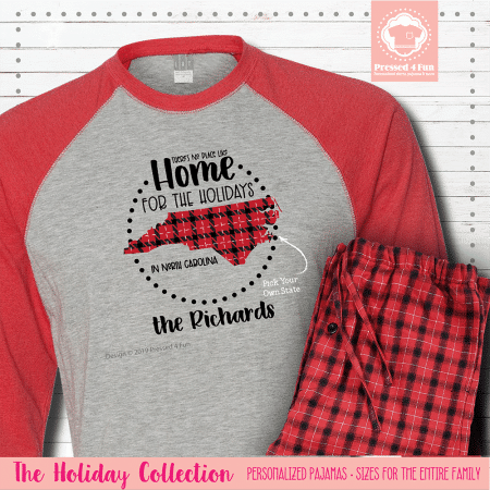 Home for the Holidays Pajamas Raglans Single