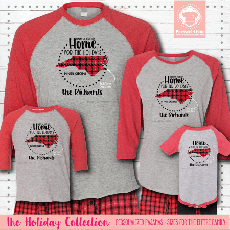 Home for the Holidays Pajamas Raglans