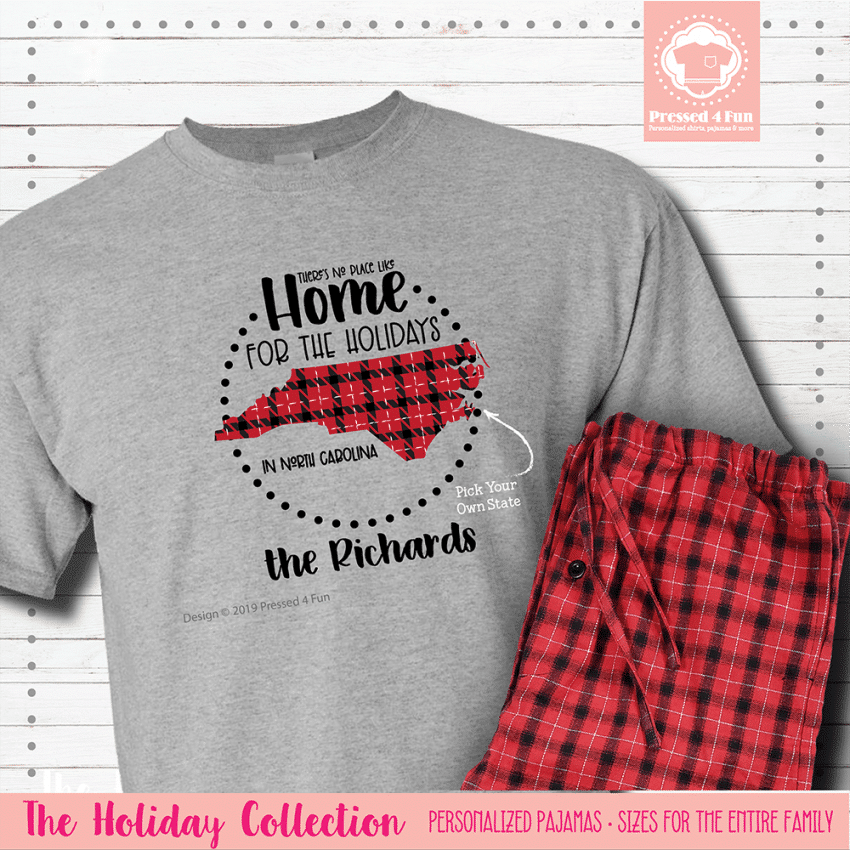 Home for the Holidays Pajamas Short Sleeve Single