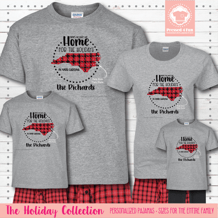 Home for the Holidays Pajamas Short Sleeve