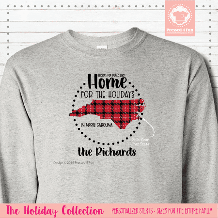 Home for the Holidays Shirts Long Sleeve Single